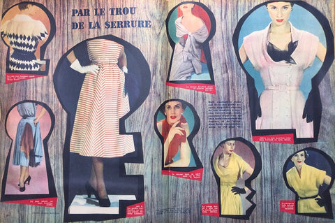 Summer Fashions in the 3rd July 1950 issue of French ELLE Fashion Magazine