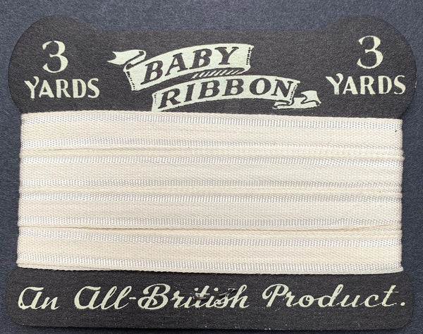 BABY RIBBON. An All British Product. Blue , White or Pink. Lovely..