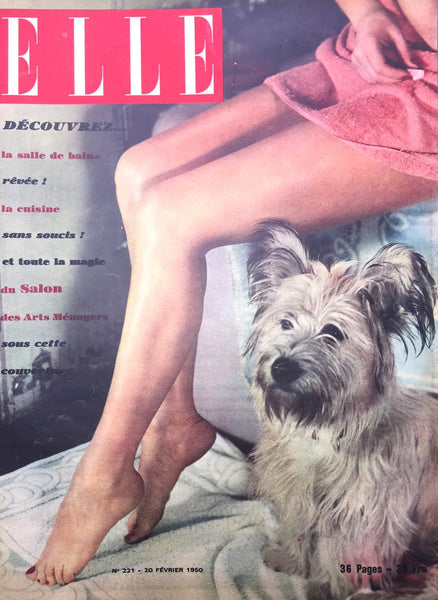 Housework Issue ! February 1950 issue of French ELLE Fashion Magazine