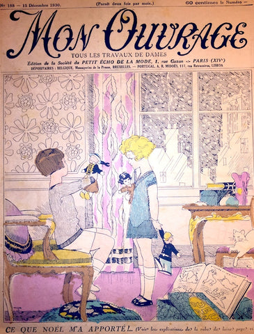 Delightful Christmas 1930 issue of French Woman & Home Paper MON OUVRAGE