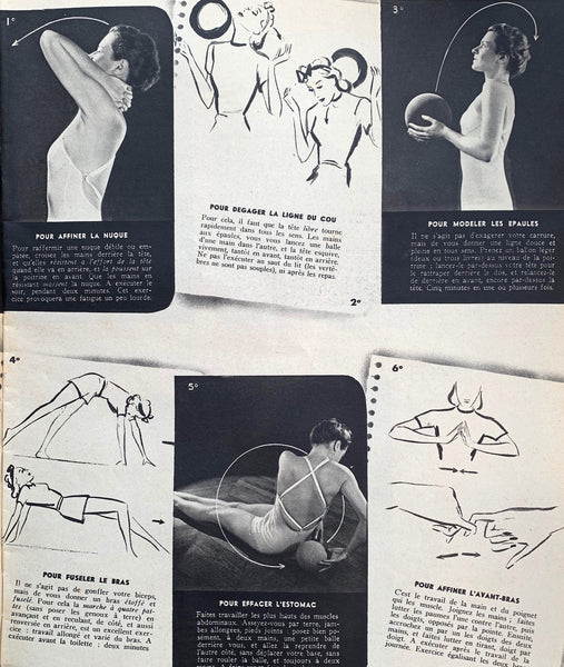 October 1938 issue of French MARIE CLAIRE incl Plastic Surgery and THO-RADIA - Radioactive Cosmetics -Advert