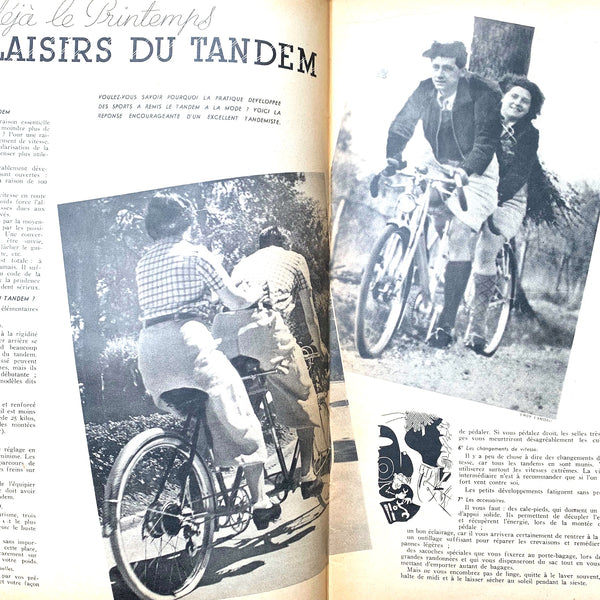 April 1938 issue of French MARIE CLAIRE incl. Confirmation Dresses and Tandems..