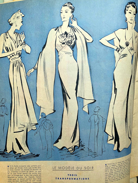 October 1937 - Issue No 31 of French MARIE CLAIRE Lingerie, Fashion Dos and Don'ts
