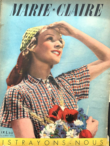 Fancy Dress in August 1937  Issue No 23 of French MARIE CLAIRE