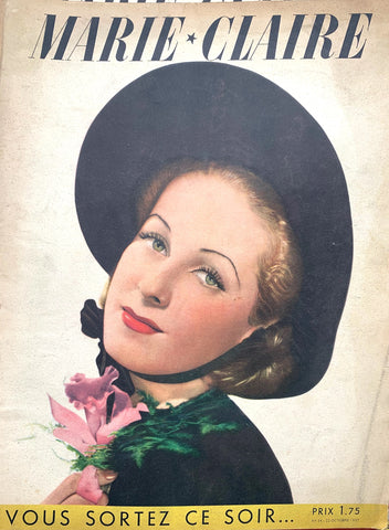 October 1937  Issue No 34 of French MARIE CLAIRE Lots of Beauty Tips !