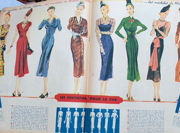 Lots of Health + Beauty Tips in October 1937  Issue No 32 of French MARIE CLAIRE
