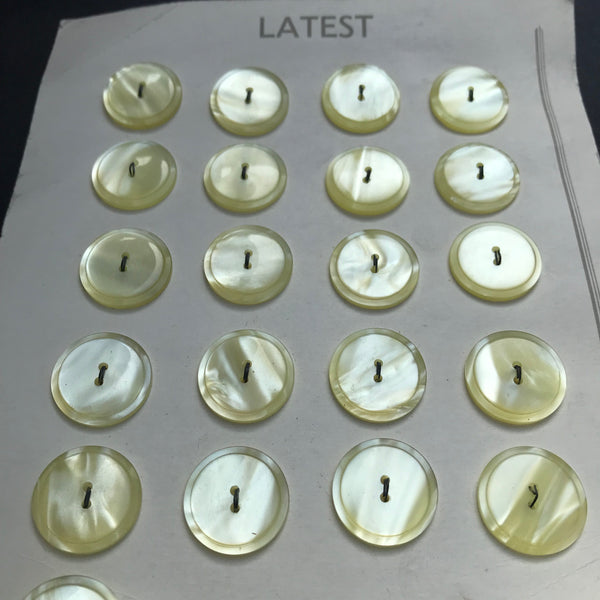 Sparkling 1940s Lucite Yellow  Buttons -3.8cm, 2cm or 1.6cm