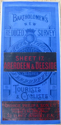 Early 1900s Map of Aberdeen & Deeside - Bartholomew's