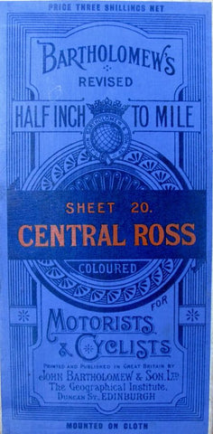 1926 Bartholomew's Map of Central Ross