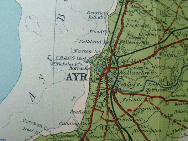 1921 Bartholomew's Map of Lower Clyde