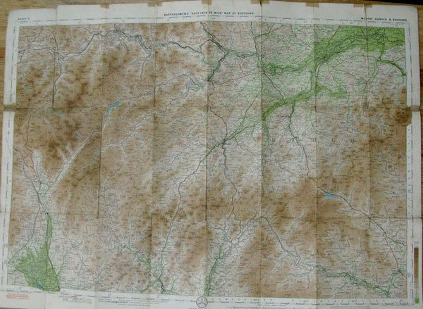 1920s Map of Hawick and Borders