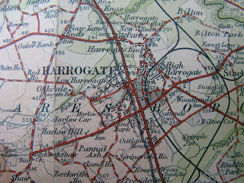 1920 Map of Harrogate and environs