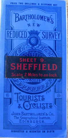 1900s Map of Sheffield and surrounding area