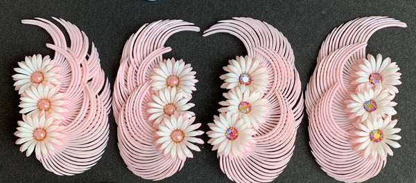 Sweet and Innocent Pale Pink 1950s Clip-On Earrings