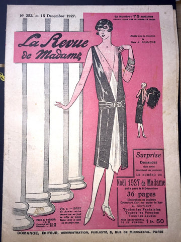 Lovely 1920s fashions in this December 1927  La Revue de Madame