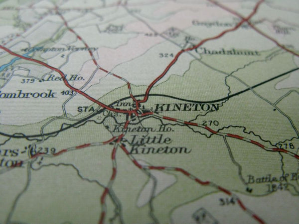 Early 1900s Map of Oxfordshire - Oxford, Stratford on Avon, Banbury, Aylesbury, Cirencester