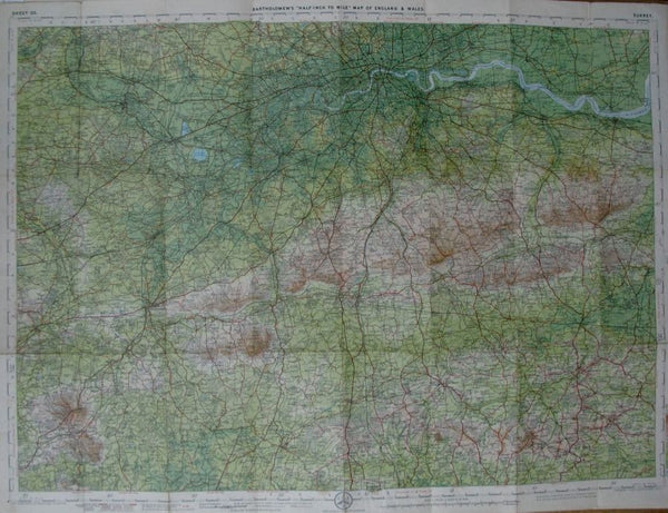 Early 1900s Map of Surrey