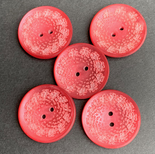 Mid Century Cerise or Pearly Pink  2.8cm  Buttons
