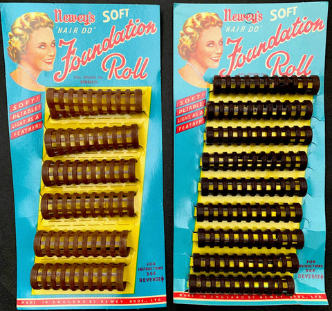 "1950's Newey's ""Hair Do"" FOUNDATION ROLL Hair Rollers / Curlers - 2 Sizes"