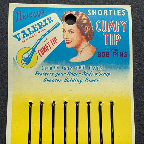 1940s Made in England  VALERIE Shorties CUMFY TIP BOB PINS