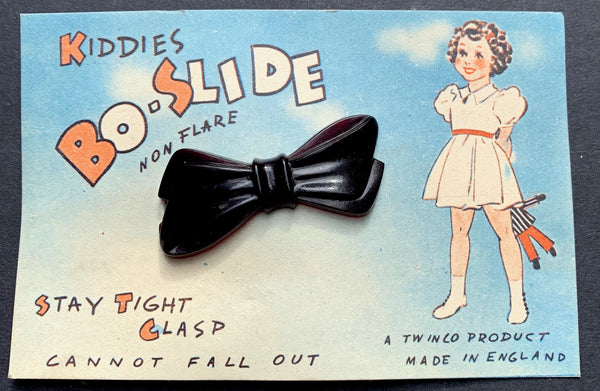 "Delightful 1940s ""KIDDIES BO-SLIDE"" Made in England - Black or White"