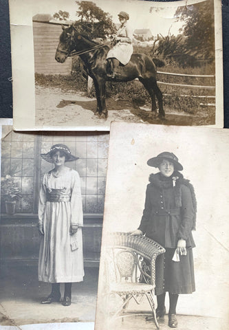 3 photos of Young Women circa 1914 (8)