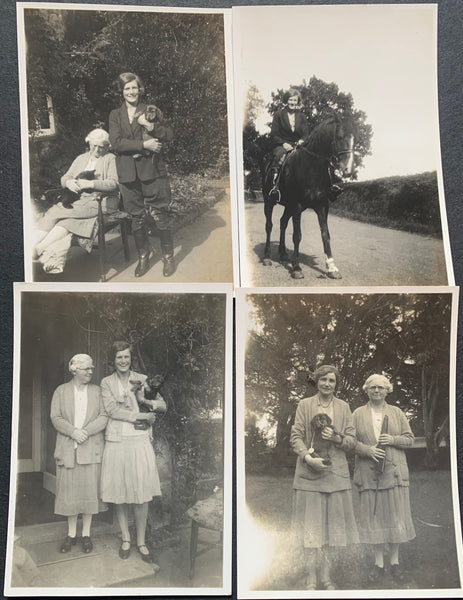 4 photos of 1940s Women and their Animals (49)
