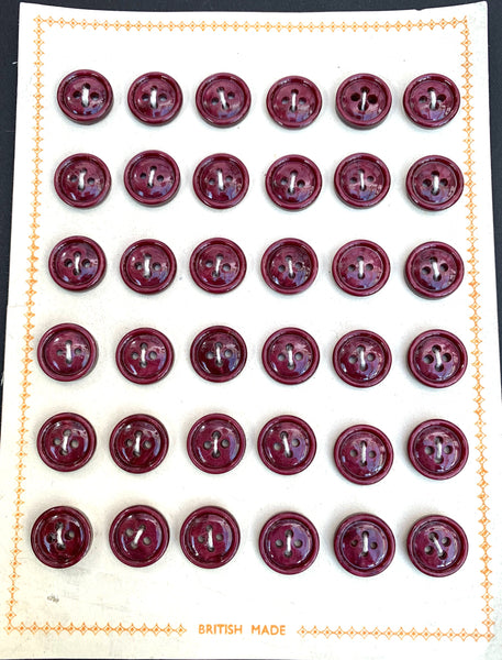36 Shimmery Grape 1.4cm Simple and Satisfying Vintage British Made Buttons