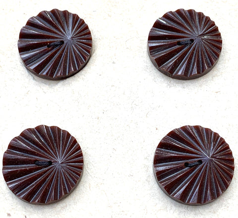 8 Dark Brown Vintage French 2cm Buttons