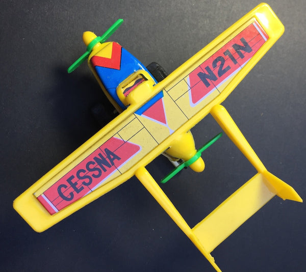 Vintage Cessna Skymaster 1960s Tin + Plastic Friction Toy Plane