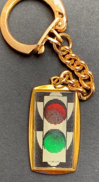 Little Colour Changing Traffic Lights AND a St Christopher...This Vintage Keyring has it Covered...