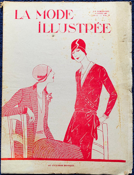 Fascinating April 1928 French Fashion Paper La Mode Illustree
