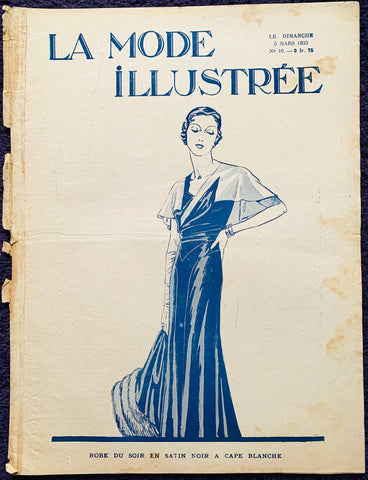Knitting and Crafts in March 1933 French Fashion Paper La Mode Illustree
