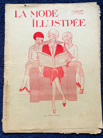 Fashion and Beauty in March 1929 French Fashion Paper La Mode Illustree