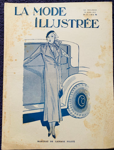 Style and Elegance in March 1933 French Fashion Paper La Mode Illustree