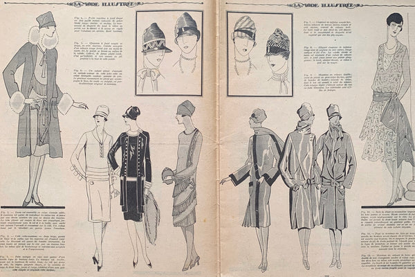 Gorgeous front Cover on March 1927 French Fashion Paper La Mode Illustree