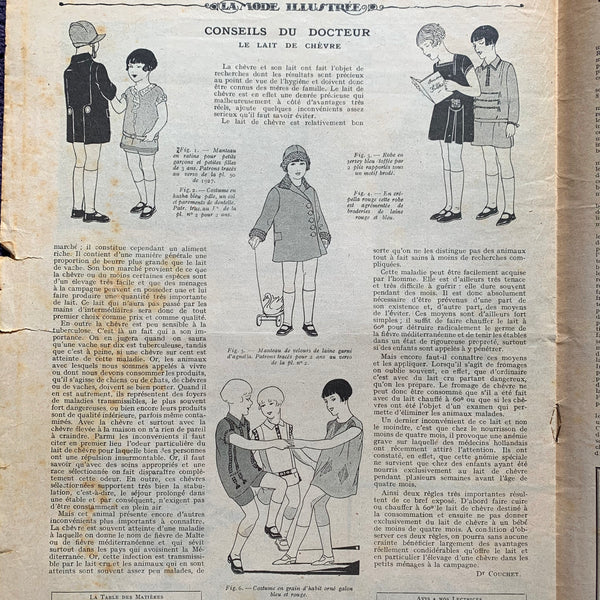Hats and Furs in January 1928 French Fashion Paper La Mode Illustree