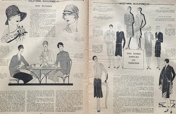 Spring fashions in May 1928 French Fashion Paper La Mode Illustree