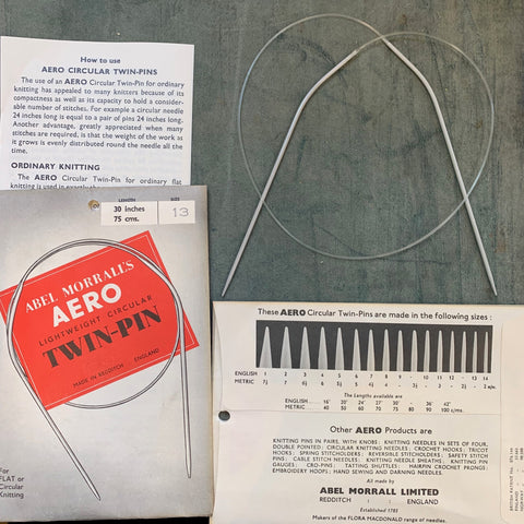 1950s ABEL MORRALL'S AERO Lightweight Circular TWIN-PIN for Flat or Circular Knitting