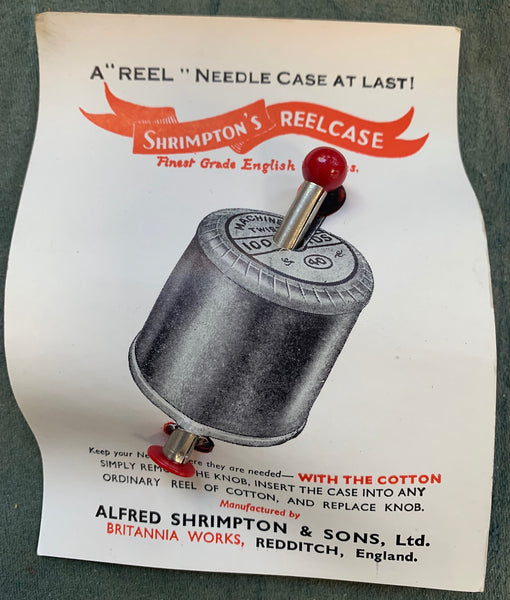 "Profoundly Useful 1940s ""REEL"" NEEDLE CASE"