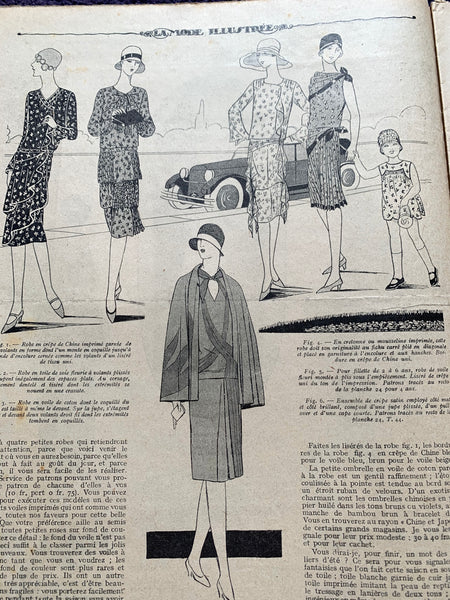 Goats and Lingerie in May 1928 French Fashion Paper La Mode Illustree