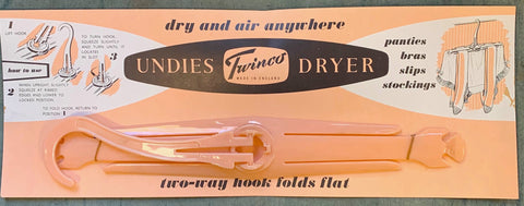 "Glorious 1950s UNDIES DRYER ""dry and air anywhere"""