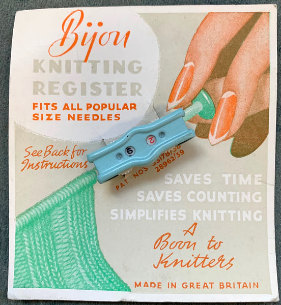 Delightful 1940s Bijou KNITTING REGISTER