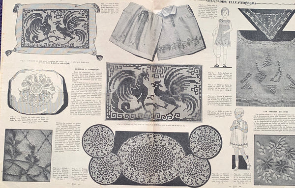 Women and Childrens Fashions in August 1930 French Fashion Paper La Mode Illustree