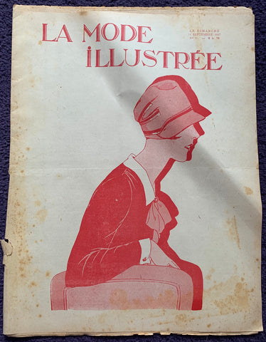Wonderful hats and Knitting in September 1927 French Fashion Paper La Mode Illustree