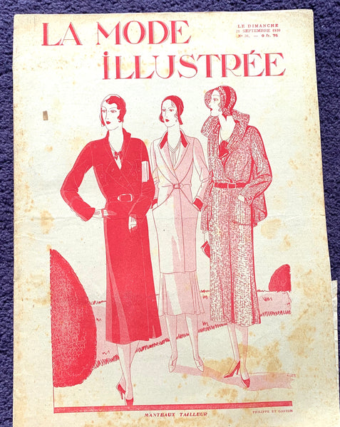 Brilliant hats in September 1930 French Fashion Paper La Mode Illustree