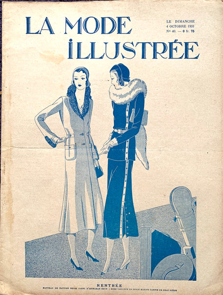 October 1931 French Fashion Paper La Mode Illustree