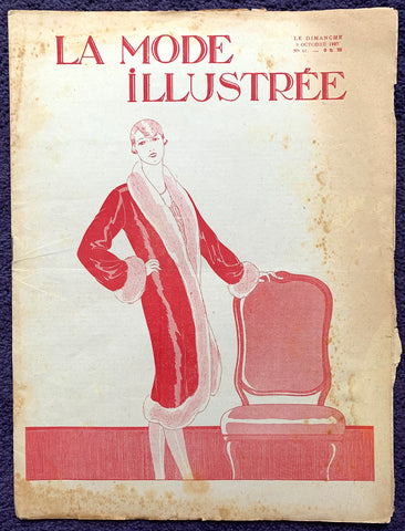 October 1927 French Fashion Paper La Mode Illustree