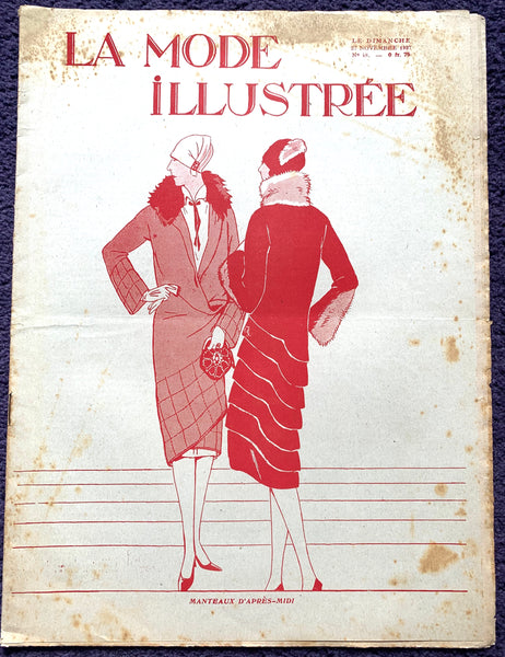 How to make a Hat in November 1927 French Fashion Paper La Mode Illustree