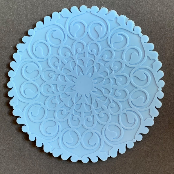 """Elegant"" French 1960s Plastic Table Mats/ Coasters (with many other uses ..)"